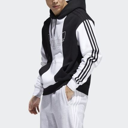 adidas Hoodies Unisex Long Sleeves Logo Hoodies 7
