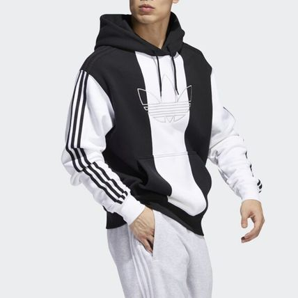 adidas Hoodies Unisex Long Sleeves Logo Hoodies 9