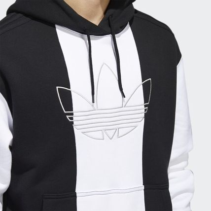 adidas Hoodies Unisex Long Sleeves Logo Hoodies 10