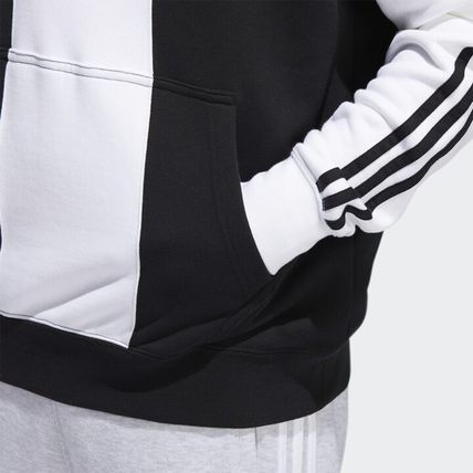 adidas Hoodies Unisex Long Sleeves Logo Hoodies 11