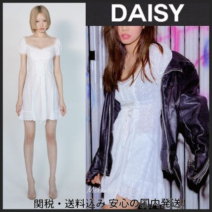 Daisy Dresses Short Zebra Patterns Casual Style Tight Party Style