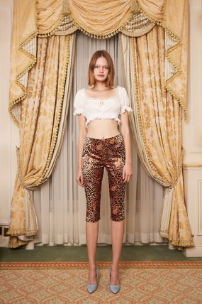 Daisy Cropped Short Puff Sleeves Cropped 3