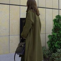 Plain Long Oversized Chester Coats