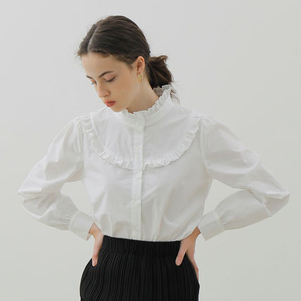 YUPPE Shirts & Blouses Casual Style Long Sleeves Plain Cotton Office Style 2