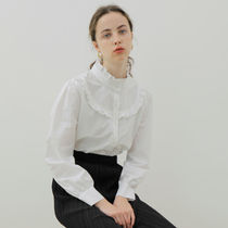 YUPPE Shirts & Blouses Casual Style Long Sleeves Plain Cotton Office Style 14