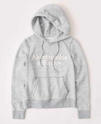 Street Style Long Sleeves Plain Logo Hoodies & Sweatshirts