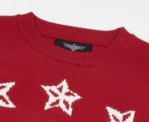 BOY LONDON Sweaters Crew Neck Pullovers Star Unisex Street Style Long Sleeves 4