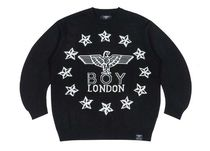 BOY LONDON Sweaters Crew Neck Pullovers Star Unisex Street Style Long Sleeves 8