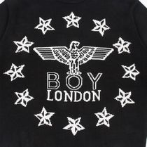 BOY LONDON Sweaters Crew Neck Pullovers Star Unisex Street Style Long Sleeves 11