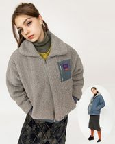citybreeze Casual Style Street Style Shearling Logo Outerwear