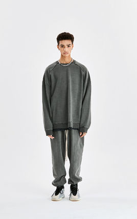 Unisex Street Style Oversized Two-Piece Sets