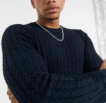 ASOS Cable Knit Street Style Long Sleeves Plain Cotton