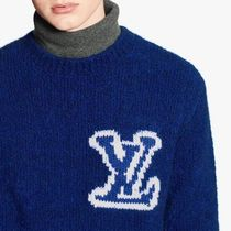 Louis Vuitton Crew Neck Pullovers Wool Street Style Long Sleeves Logo