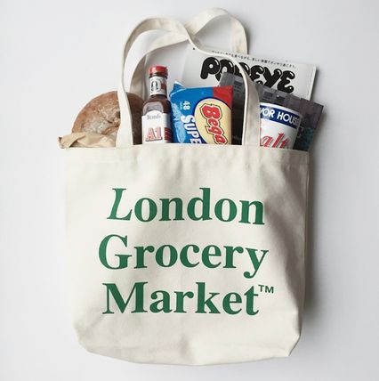 London Grocery Market Totes Casual Style Totes