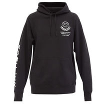 MONCLER MONCLER GENIUS Pullovers Long Sleeves Cotton Logos on the Sleeves Logo
