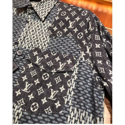 Louis Vuitton DAMIER Giant Damier Waves Monogram Flannel Shirt