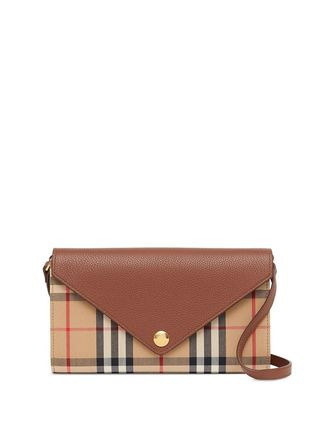 Other Plaid Patterns Leather Crossbody Shoulder Bags