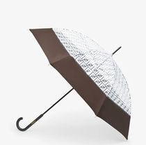 FENDI Monogram Blended Fabrics Plain Umbrellas & Rain Goods