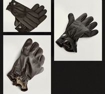 Massimo Dutti Wool Cashmere Leather Leather & Faux Leather Gloves