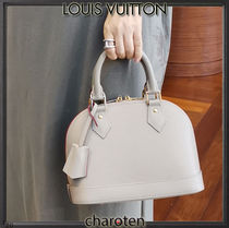 Louis Vuitton ALMA Casual Style Calfskin 3WAY Plain Leather Party Style