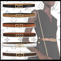 Louis Vuitton Monogram Leather Elegant Style Belts