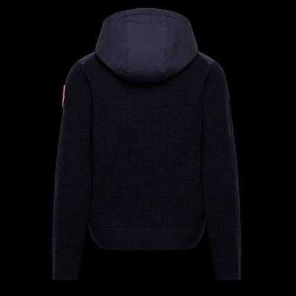 MONCLER Cardigans Wool Nylon Plain Logos on the Sleeves Cardigans 3