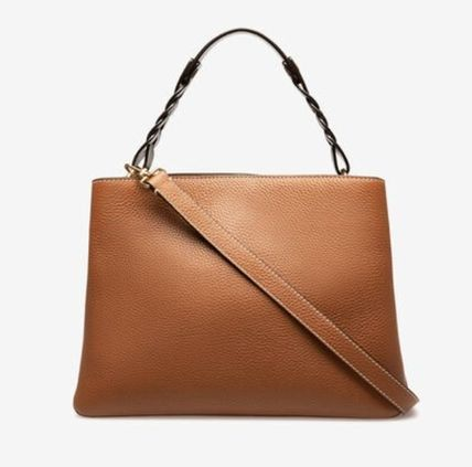 Casual Style Calfskin Blended Fabrics Street Style A4 2WAY