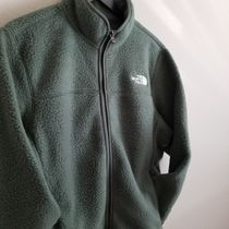 THE NORTH FACE Short Unisex Plain Oversized Logo Fleece Jackets Jackets