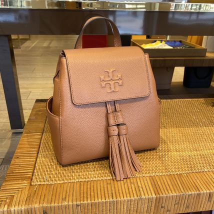 Tory Burch Plain Leather Backpacks