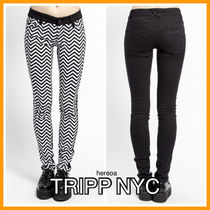 TRIPP NYC Casual Style Street Style Cotton Long Skinny Pants