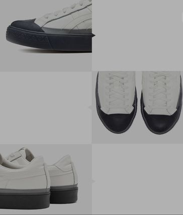 Faux Fur Leather Sneakers