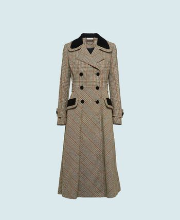 Other Plaid Patterns Casual Style Wool Street Style Long