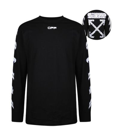 Off-White Unisex Street Style Long Sleeves Cotton Long Sleeve T-shirt