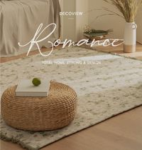 DECO VIEW Flower Patterns Tassel Collaboration Carpets & Rugs