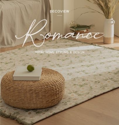 Flower Patterns Tassel Collaboration Carpets & Rugs