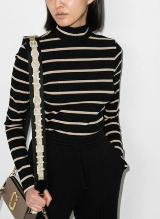 Short Stripes Street Style Long Sleeves Cotton