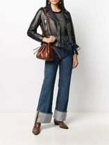 A.P.C. Casual Style Street Style 2WAY Plain Leather Party Style