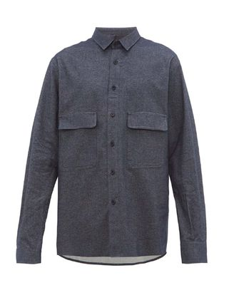 Button-down Long Sleeves Plain Cotton Shirts