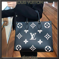 Louis Vuitton MONOGRAM Monogram Unisex Calfskin A4 2WAY Bi-color Leather Bridal