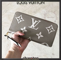 Louis Vuitton MONOGRAM EMPREINTE Monogram Unisex Calfskin Bi-color Plain Leather Long Wallet