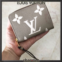 Louis Vuitton MONOGRAM EMPREINTE Monogram Unisex Calfskin Bi-color Leather Long Wallet