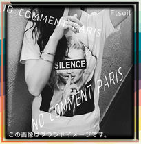 NO COMMENT PARIS Sweatshirts Unisex Street Style Long Sleeves Logo Sweatshirts 13