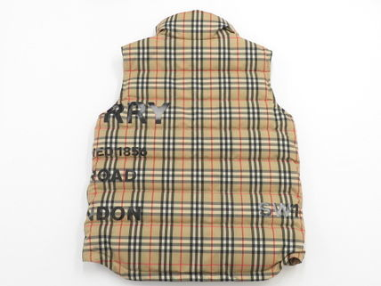 Burberry BURBERRY Horse ferry Vintage Check Puffer Gilet #8023729