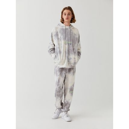 Unisex Street Style Tie-dye Long Sleeves Oversized