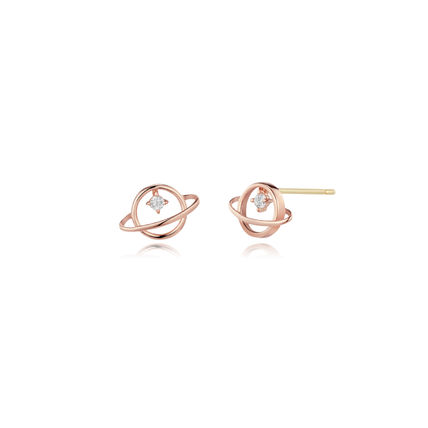 With Jewels Office Style 14K Gold Elegant Style Earrings