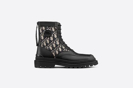 Christian Dior Leather Engineer Boots