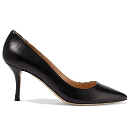 Sergio Rossi Plain Leather Pin Heels Party Style Office Style