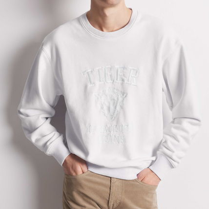 Pullovers Sweat Long Sleeves Cotton Logo Loungewear