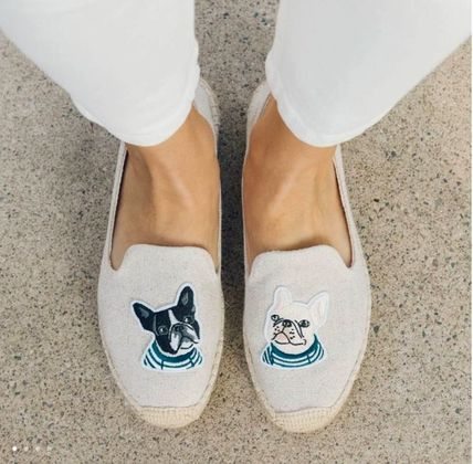 Casual Style Plain Other Animal Patterns Flats