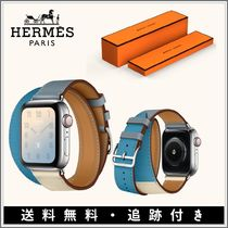 HERMES Casual Style Unisex Street Style Leather Party Style